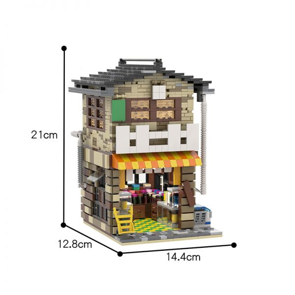 MOC 58773 Japanese Stores Modular Building by povladimir MOC FACTORY 8 - MOULD KING