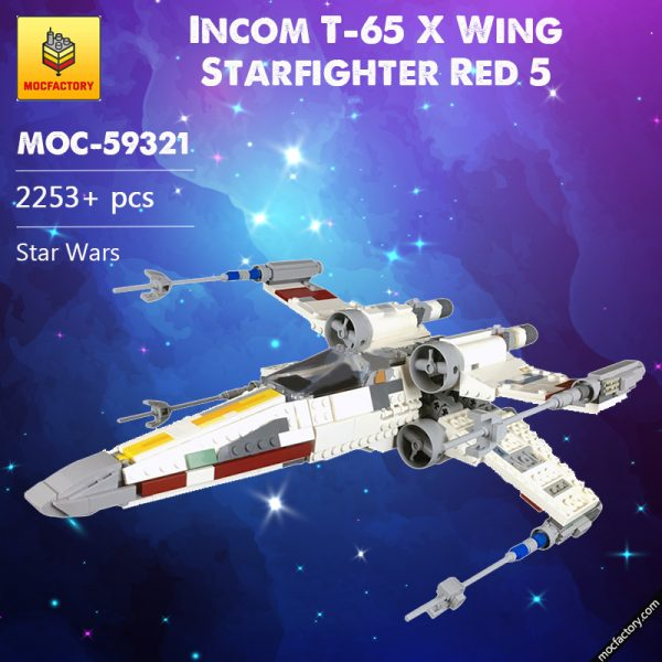 MOC 59321 Incom T 65 X Wing Starfighter Red 5 Star Wars by 2bricksofficial MOC FACTORY - MOULD KING