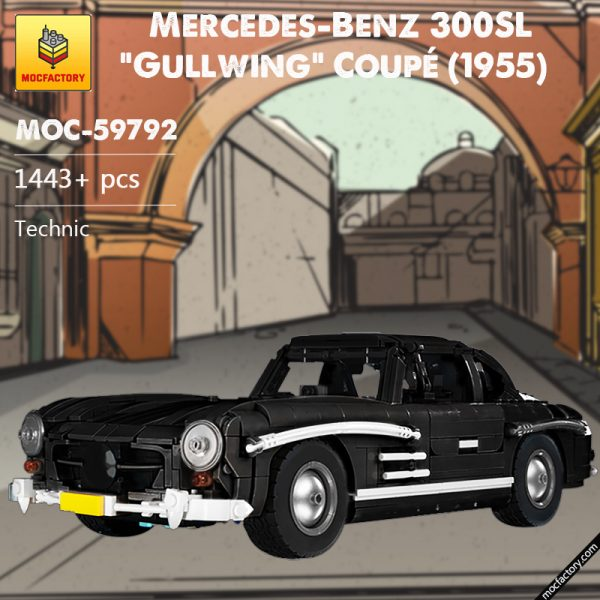 MOC 59792 Mercedes Benz 300SL Gullwing Coupe 1955 Technic by tmunz MOC FACTORY - MOULD KING