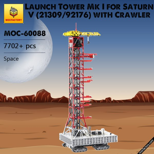MOC 60088 Launch Tower Mk I for Saturn V 2130992176 with Crawler Space by Janotechnic MOC FACTORY 3 - MOULD KING