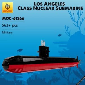 MOC 61366 Los Angeles Class Nuclear Submarine Military by veyniac MOC FACTORY - MOULD KING