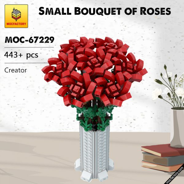 MOC 67229 Small Bouquet of Roses Creator by Ben Stephenson MOC FACTORY - MOULD KING