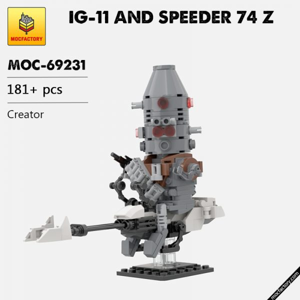MOC 69231 IG 11 AND SPEEDER 74 Z Creator by Headsbrick MOC FACTORY - MOULD KING