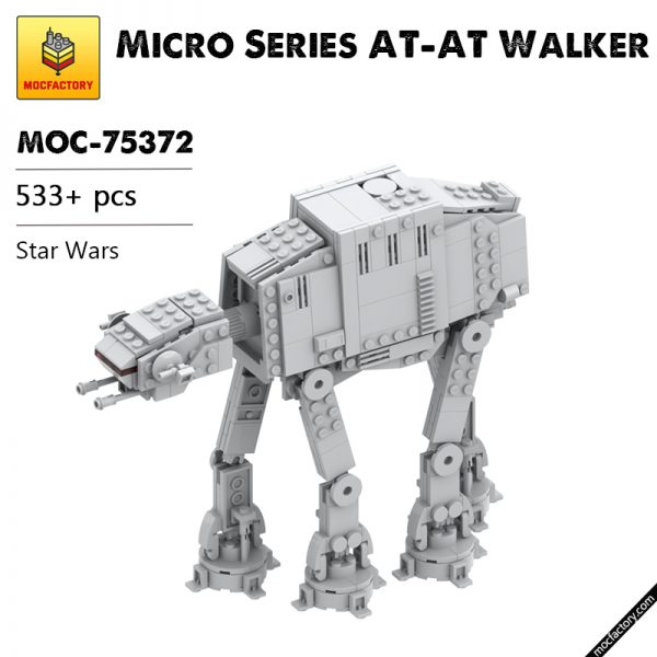 MOC 75372 Micro Series AT AT Walker Star Wars by obiwanklemmobi MOC FACTORY - MOULD KING