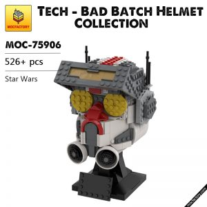 MOC 75906 Tech Bad Batch Helmet Collection Star Wars by Breaaad MOC FACTORY - MOULD KING
