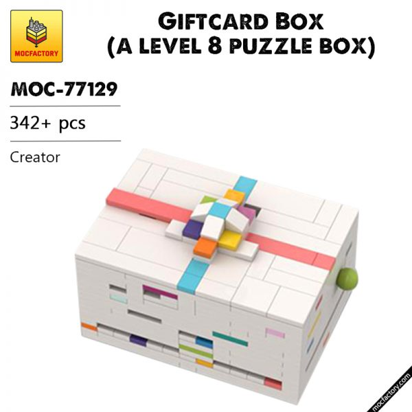 MOC 77129 Giftcard Box a level 8 puzzle box Creator by cheat3 puzzles MOC FACTORY - MOULD KING