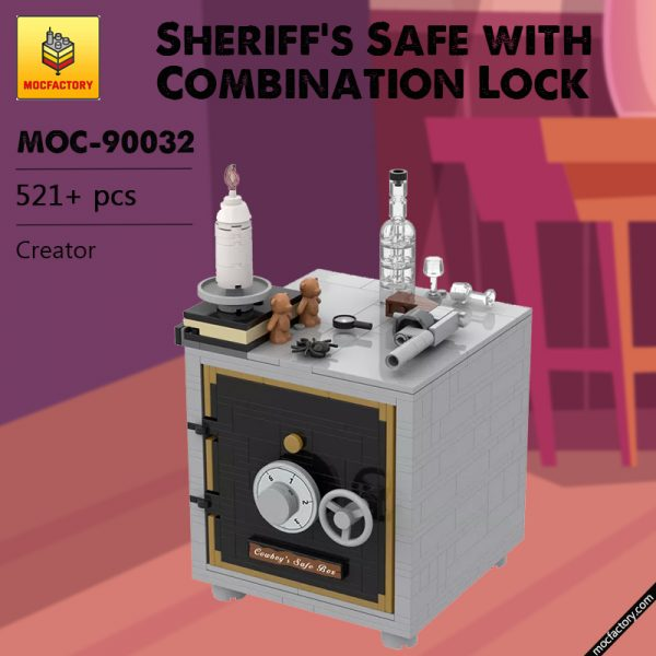 MOC 90032 Sheriffs Safe with Combination Lock Creator MOCFACTORY - MOULD KING