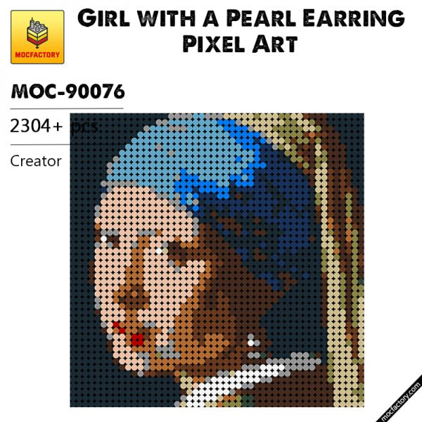 MOC 90076 Girl with a Pearl Earring Pixel Art Creator MOC FACTORY - MOULD KING