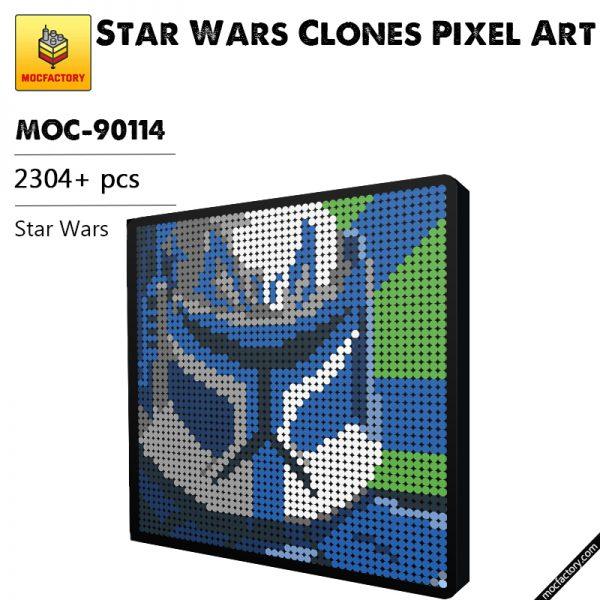 MOC 90114 Star Wars Clones Pixel Art MOC FACTORY - MOULD KING