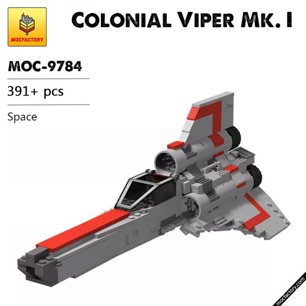 MOC 9784 Colonial Viper Mk. I Space by BricksWithWings MOC FACTORY - MOULD KING