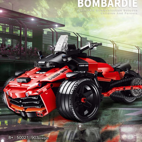 MOC FACTORY 50021 Three Wheeled Motorcycle Bombardier F3S - MOULD KING