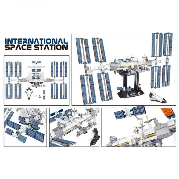 NEW Space Station The Apollo Saturn V Model Lepining Building Blocks Compatible 21321 21309 Toys For 1 - MOULD KING