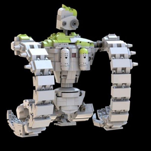 New MOC Robot The Laputan Robot Fit MOC 20801 Sky City Laputa Robot Model Building Blocks 2 - MOULD KING