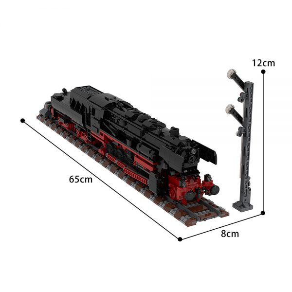 moc 25554 german class 52 80 steam locomotive technic by topaces moc factory 110047 - MOULD KING