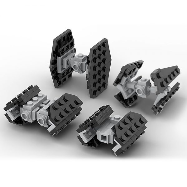 moc 35570 micro imperial tie fighters star wars by ron mcphatty moc factory 224726 - MOULD KING