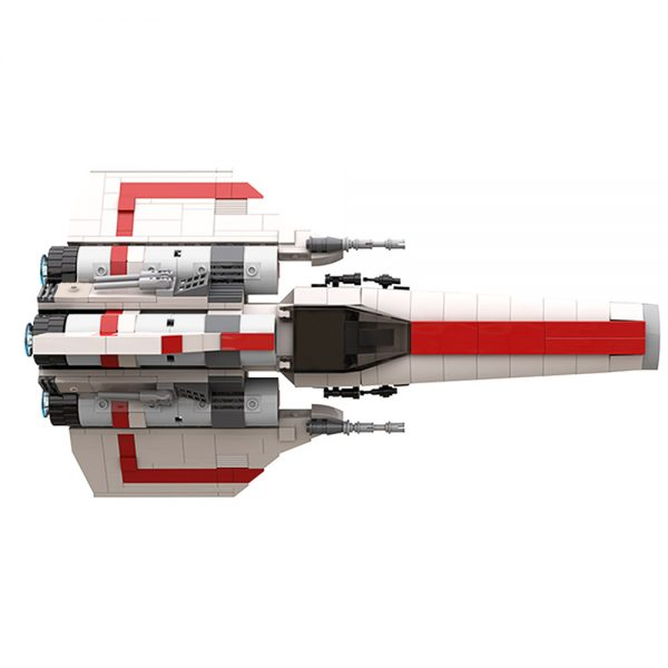 moc 45112 colonial viper mk1 version 2 0 space by apenello moc factory 204529 3 - MOULD KING