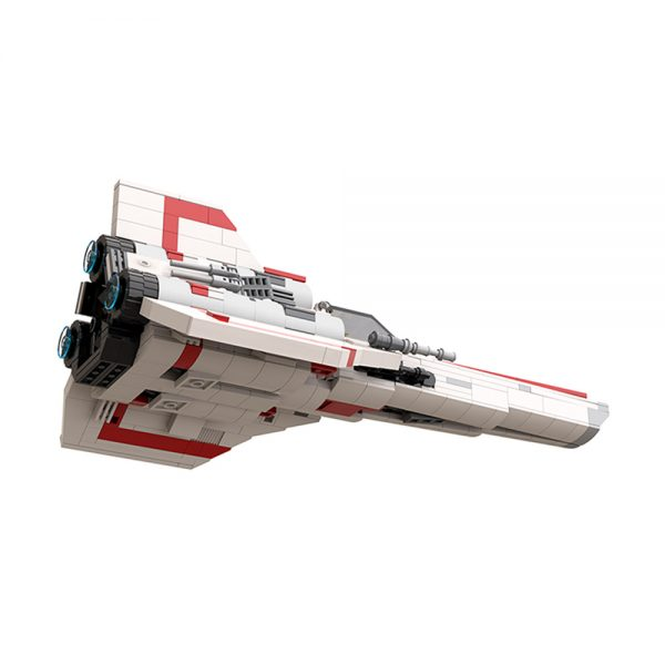moc 45112 colonial viper mk1 version 2 0 space by apenello moc factory 204532 3 - MOULD KING