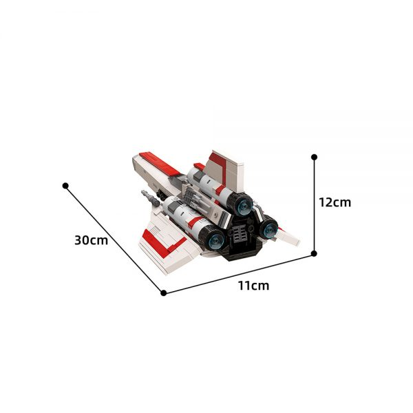 moc 45112 colonial viper mk1 version 2 0 space by apenello moc factory 204536 1 - MOULD KING