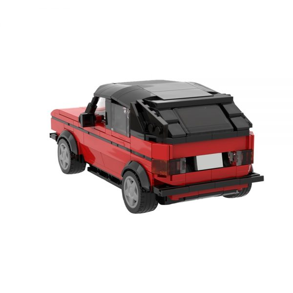 moc 47366 pennys car the red vw golf 1 cabrio from big bang theory movie by brickotronic moc factory 212143 - MOULD KING