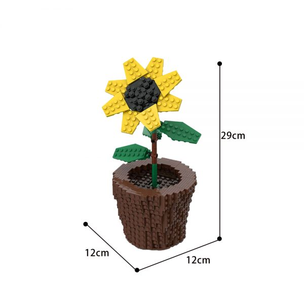 moc 59730 sunflower creator by anakin2001 moc factory 002910 - MOULD KING
