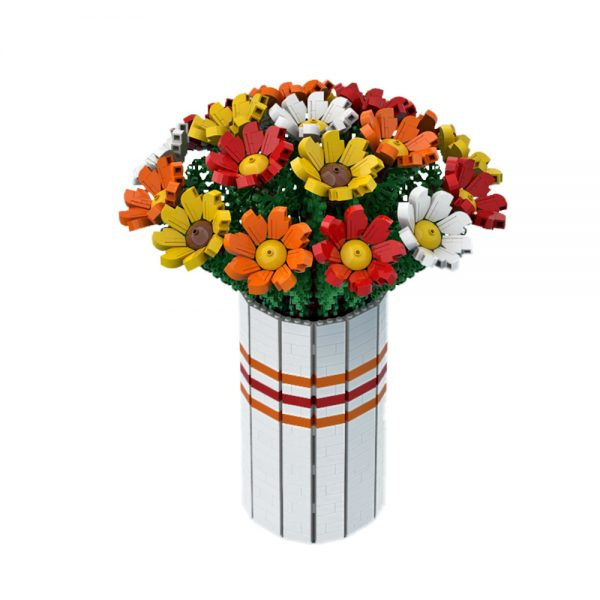 moc 60822 bouquet of colorful flowers creator by ben stephenson moc factory 222142 1 - MOULD KING