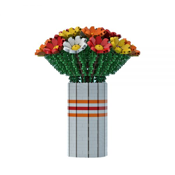 moc 60822 bouquet of colorful flowers creator by ben stephenson moc factory 222145 1 - MOULD KING