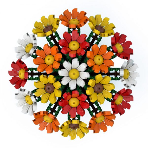 moc 60822 bouquet of colorful flowers creator by ben stephenson moc factory 222149 1 - MOULD KING
