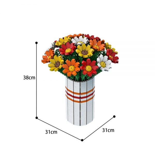 moc 60822 bouquet of colorful flowers creator by ben stephenson moc factory 222152 - MOULD KING