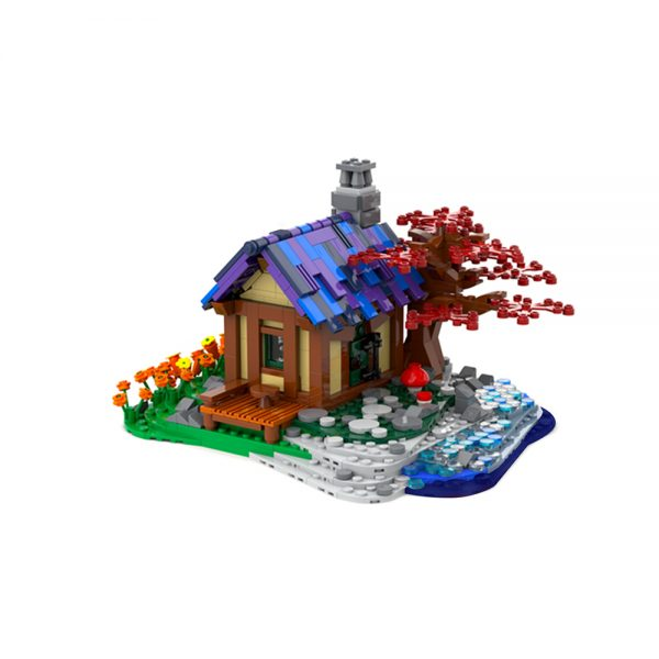 moc 66465 tiny house at the sea creator by brickgloria moc factory 230830 - MOULD KING