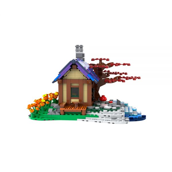 moc 66465 tiny house at the sea creator by brickgloria moc factory 230837 - MOULD KING