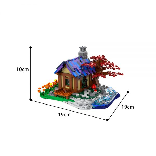 moc 66465 tiny house at the sea creator by brickgloria moc factory 230840 - MOULD KING