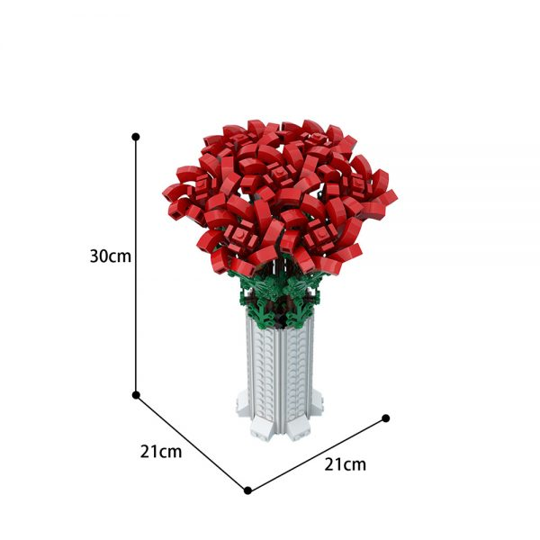 moc 67229 small bouquet of roses creator by ben stephenson moc factory 234636 - MOULD KING