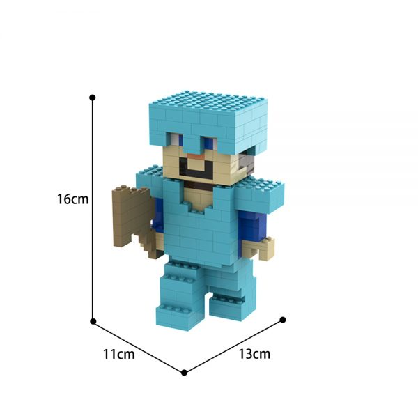moc 70162 character mine steve creator by brickand moc factory 224051 - MOULD KING