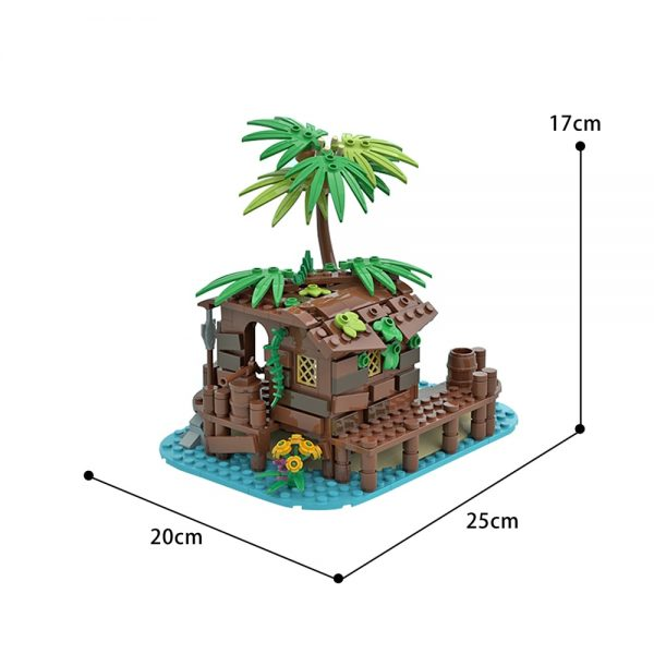 moc 71229 pirate shed 21322 barracuda bay extension creator by maniu 81 moc factory 213606 - MOULD KING