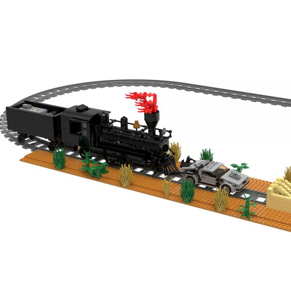 moc 90176 back to the future train scene movie moc factory 095250 1 - MOULD KING