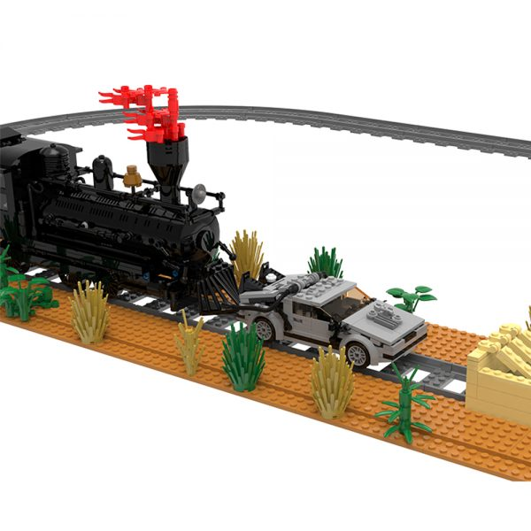 moc 90176 back to the future train scene movie moc factory 095255 1 - MOULD KING