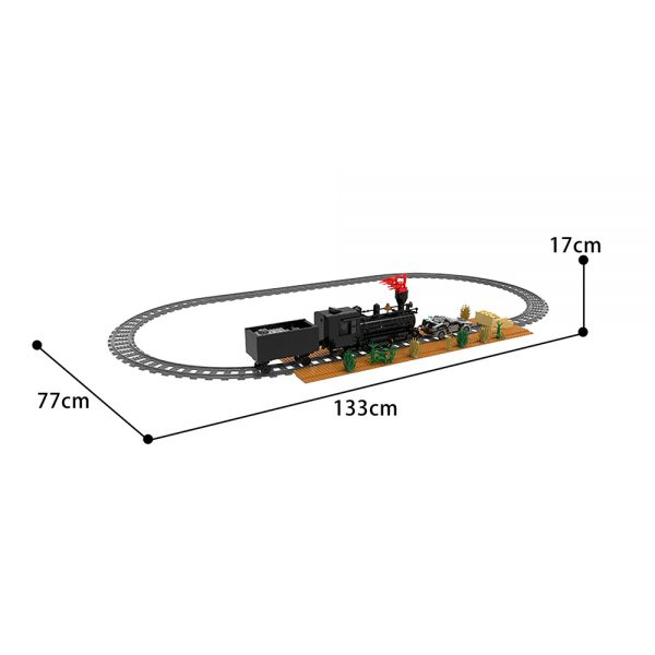 moc 90176 back to the future train scene movie moc factory 095301 - MOULD KING
